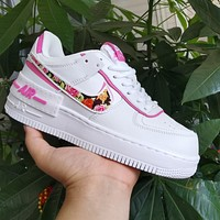 Nike Air Force 1 Floral Hook Low-Top Women's Sneakers Shoes
