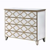 NEW! Alameda Mirrored Chest of Drawers