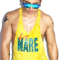 Hey Mare Burnout String Tank- Yellow