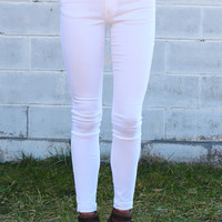 Favorite Basic Skinny Jean {White}