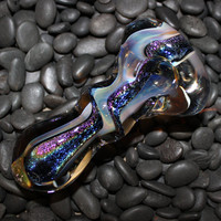 Thick Color Changing Rainbow Dichro Glass Pipe