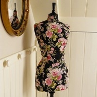 Corset Laced Mannequin Laura Ashley Dress by CorsetLacedMannequin
