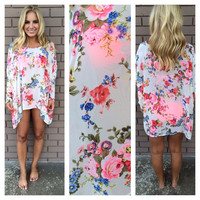 Hardcore Floral Tunic Top