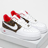 LV Louis Vuitton x Nike Air Force 1 Low All-match Casual Sports Shoes