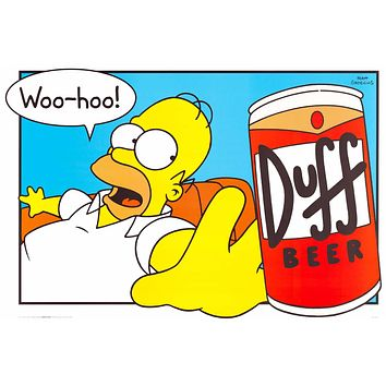 The Simpsons: Homer Simpson Duff Beer Poster 24x36