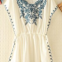 Embroidery Rim and Front Dress from topsales