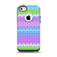 The Bright-Colored Knit Pattern Apple iPhone 5c Otterbox Commuter Case Skin Set