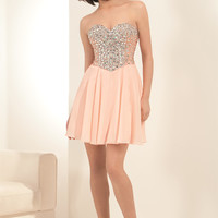 Eleni Elias H510 Jeweled Homecoming Short Cocktail Party Dress