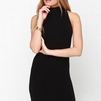 Figure Eight Black Bodycon Dress