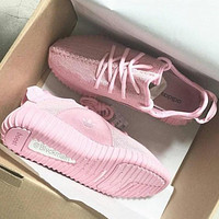 """""""Adidas"""" Women Yeezy Boost Sneakers Running Sports Shoes Pink"""