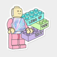 Lego Grunge 90s 80s Tumblr Pastel Toy 80s 90s Youtube Typography Sticker By BigKidult Design By Humans