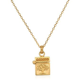 Rooted in Spirituality Gold Locket Necklace