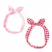 Gingham Headband Set