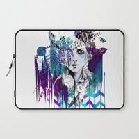 Tribal Girl - Colourway - Laptop Sleeve by Holly Sharpe