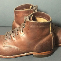 Wolverine Original 1000 Mile Chukka Brown Leather Boots Men's Size 8.5