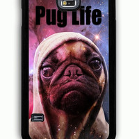 Samsung Galaxy S5 Case - Hard (PC) Cover with Funny Pug Life On Galaxy Plastic Case Design