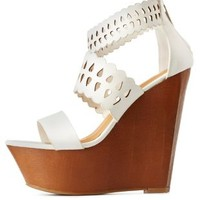 White Dollhouse Laser Cut-Out & Scalloped Wedges