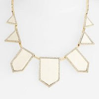House of Harlow 1960 Pavé Leather Bib Necklace | Nordstrom