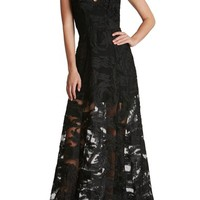 Dress the Population 'Florence' Woven Fit & Flare Gown   Nordstrom