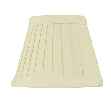 """5""""W x 4""""H Crisp Linen Pleated Clip-on Candelabra Lampshade"""