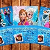 12 FROZEN Birthday party invitations personalized custom PRINTED