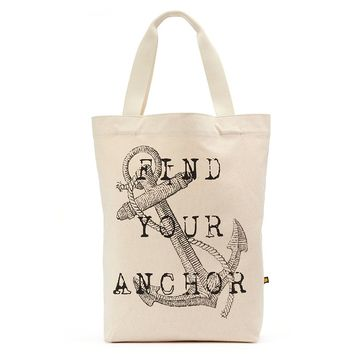 Life Is Good ''Find Your Anchor'' Canvas Tote (White)