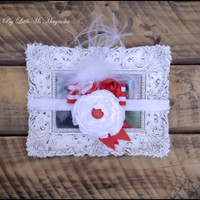 """Holiday Headband For Infant Girls, Toddler Girls and Little Girls,""""Holly Jolly"""" Hair Accessories Christmas"""