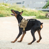 OneTigris Tactical Dog K9 Training Molle Compact Vest Harness Let The Dogs Travel Or Hunting With You Into The Wild!