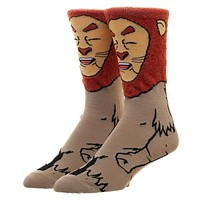 Wizard of Oz Cowardly Lion 360 Character Sock