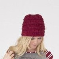 *RESTOCK* Burgundy Cable knitted Hat