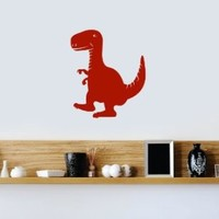 Housewares Wall Vinyl Decal Baby Animals Little Funny Cartoon Dragon Home Art Decor Kids Nursery Removable Stylish Sticker Mural Unique Design for Any Room