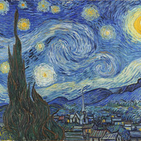 Starry Night- Fine Art Removable Wall Mural