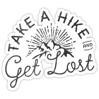 'TAKE A HIKE' Sticker by cabinsupplyco