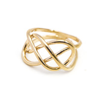 Infinity Knot Ring in Gold