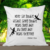 Disney New Peter Pan Quote 1 for Pillowcases