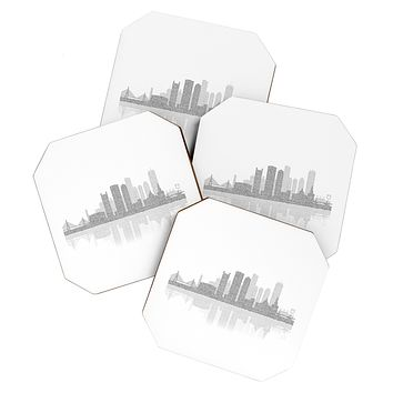Restudio Designs Boston Skyline Reflection Coaster Set