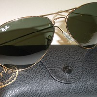 Cheap 62[]14mm RAY BAN RB3026 G15 GOLD LARGE METAL II L2846 AVIATOR L SUNGLASSES NEW outlet