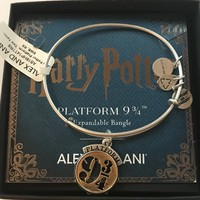 Alex and Ani Harry Potter Platform 9 ¾ Two Tone Charm Bangle New