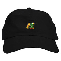 King Sipping Frog Dad Hat