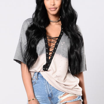 Fight The Power Tunic - Charcoal