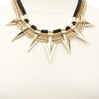 ROPE & SPIKE COLLAR NECKLACE