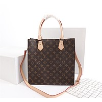 LV Louis Vuitton MONOGRAM CANVAS SAC PLAT HANDBAG SHOULDER BAG