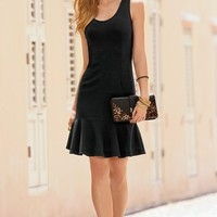 Boston Proper Travel scoop-neck flutter dress