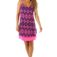 Who Wants It More Dress: Pink/Navy