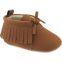 Old Navy Faux Suede Moccasins For Baby