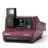 Impossible Vintage Impulse Purple Polaroid Instant Camera Set- Purple One