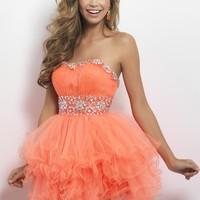 Blush Prom 9664 Strapless Party Dress