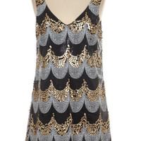 Friends with Jay Gatsby Sequin Dress Black
