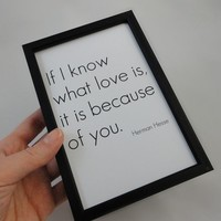 Know what Love is Art Print in 4 x 6 by SacredandProfane on Etsy