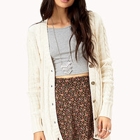 Fireside Cable Knit Cardigan